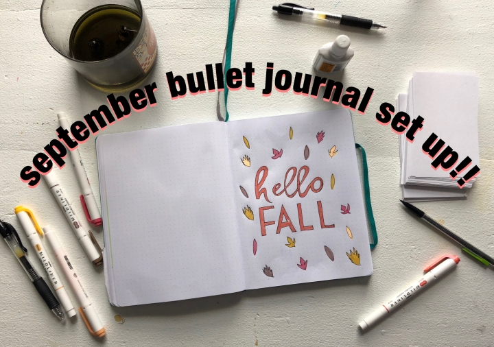 September Bullet Journal Set Up!
