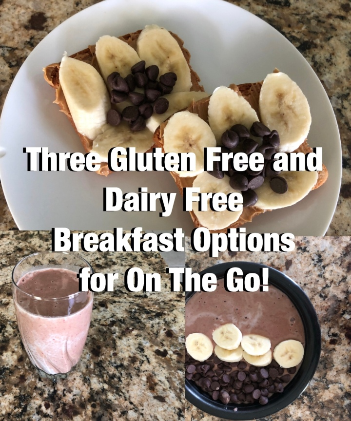 Three Gluten Free and Dairy Free Breakfast Options for On The Go!