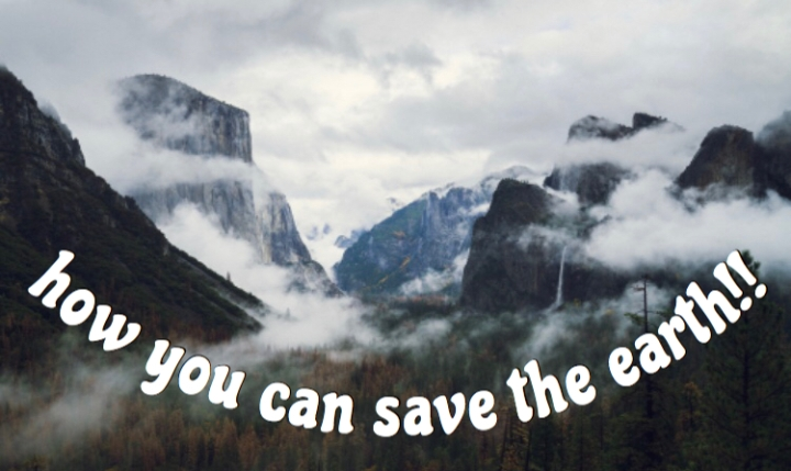 How You Can Save the Earth!!
